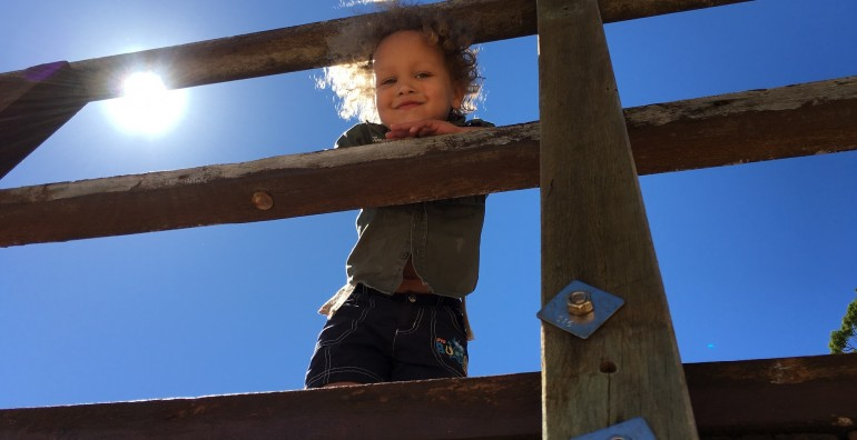 Child on Bridge